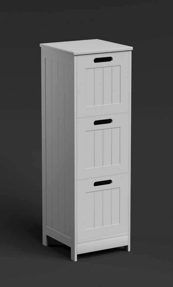 3 drawer bathroom storage chest narrow drawers cabinet for Tall kitchen drawer unit