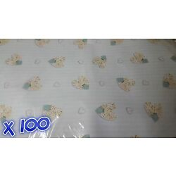 100 Sheets of Thick Wrapping Paper 49 cm x 69 cm Glossy Baby Blue Quality Joblot