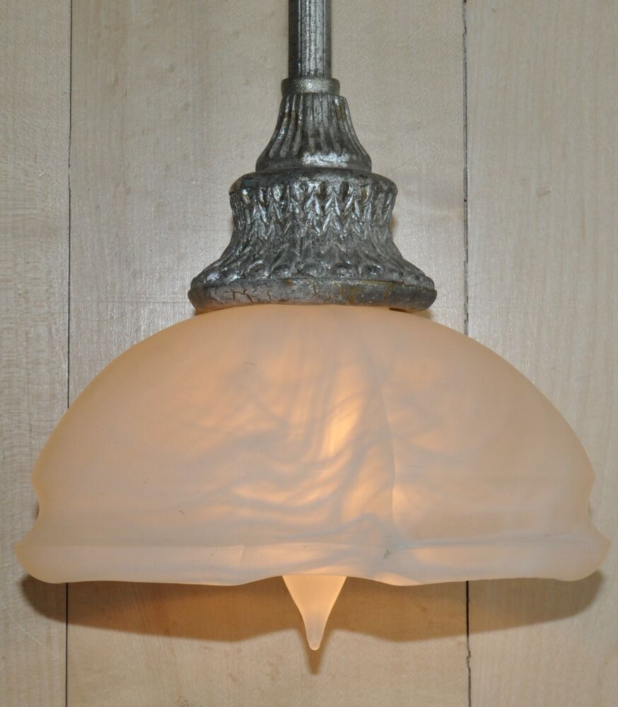 Old Ceiling Light Fixture Parts: Burnished Silver Mini Pendant Hanging Ceiling Light