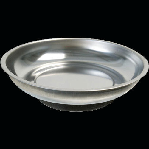 """Bowl Pot Holder: 4"""" MAGNETIC TRAY STAINLESS STEEL DISH BOWL POT STORAGE"""
