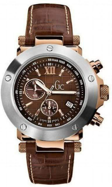 guess collection s gc 1 g45003g1 brown leather quartz