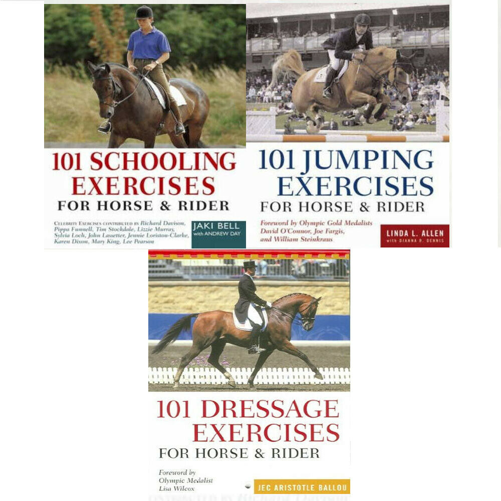 101 Schooling Exercises For Horse and Rider Collection 3 Books Set New  Paperback 9789123568079 | eBay