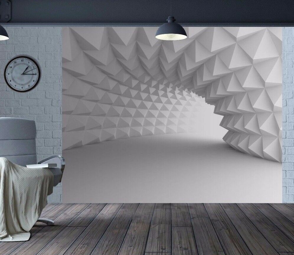 Cool 3D optical illusion arch tunnel wallpaper wall mural ...