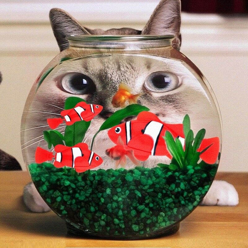 Robot fish activated toy robotic pet gift swimming bath for Robot fish toy