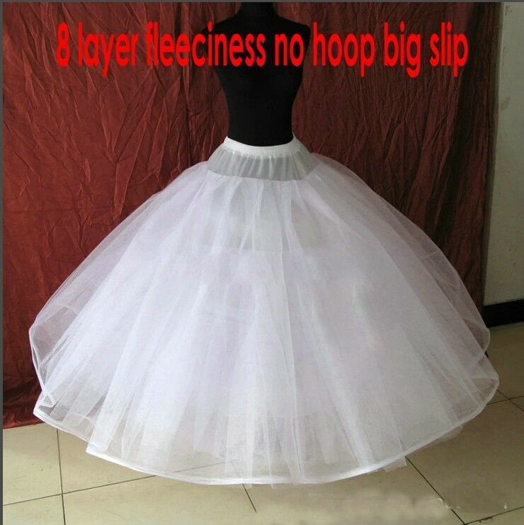 8 layer hoopless crinoline petticoat no hoop ball gown Wedding dress petticoat a line