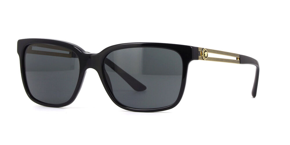 3954e42fb1 Details about NWT Versace Sunglasses VE 4307 GB1 87 Black Gold   Gray 58 mm  VE4307 GB187 NIB