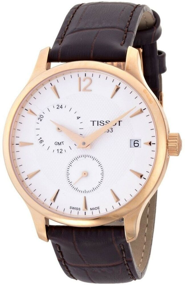 Tissot Tradition Rose Gold-tone Men's Swiss Watch ...