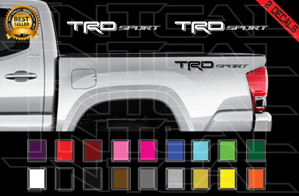 2017 Toyota Tacoma Trd Off Road >> TRD SPORT Decals Toyota Tundra Tacoma Truck Bed Vinyl Stickers X2 2012-2017 | eBay