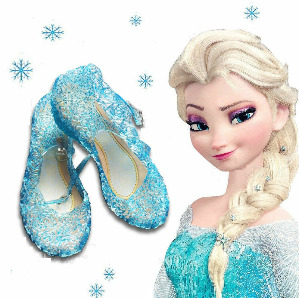 frozen eisk nigin m dchen schuhe kost m anna elsa sandalen kinder schneeflocke ebay. Black Bedroom Furniture Sets. Home Design Ideas