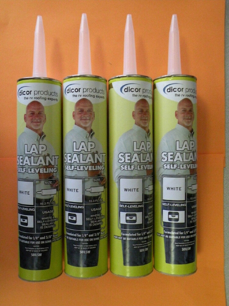 Lap Sealant White Dicor Rv Camper Rubber Roof Repair Self