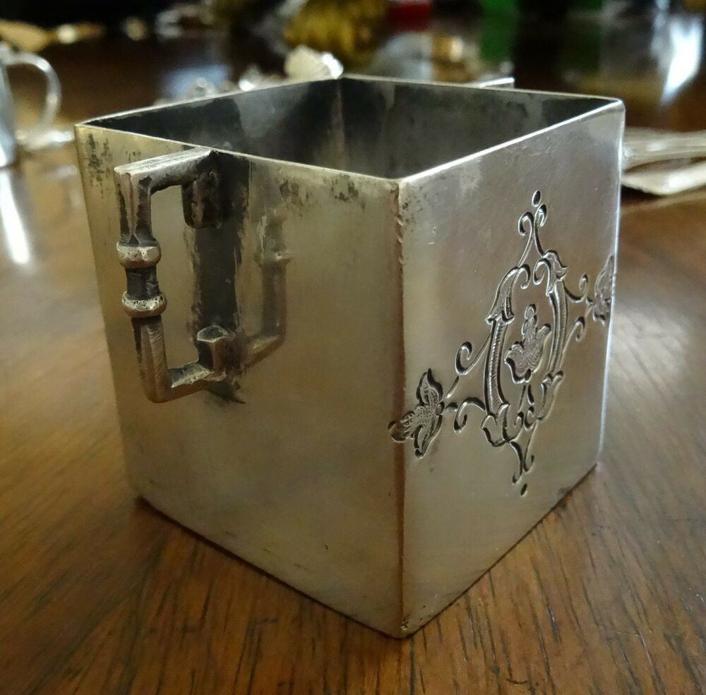 Sanborns Mexican Sterling Silver Square Toothpick Holder