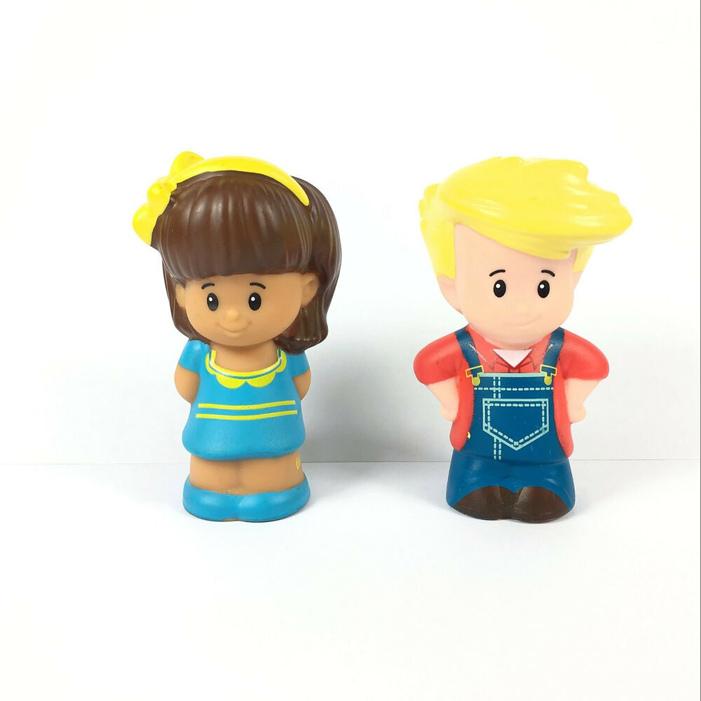 Pricing People: Fisher-Price Little People Mia Eddie Farmer Boy For Animal