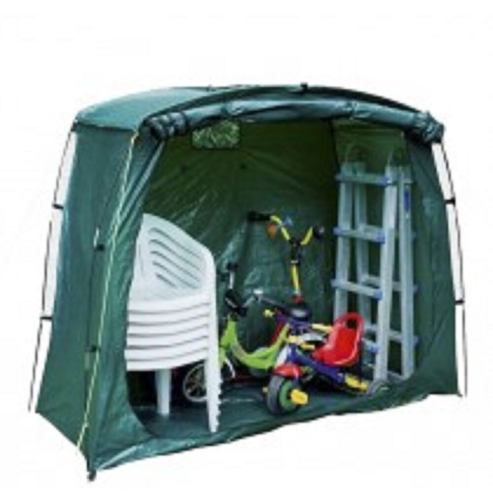 New green bicycle bike storage elegant tent shed garden for Outdoor storage shelter