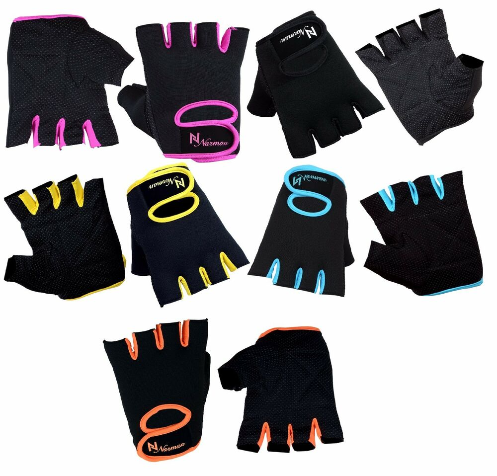 Hompo Ladies Gloves Bodybuilding Fitness Weight Lifting: Ladies Weight Lifting Gloves NEOPRENE Gym Training Body