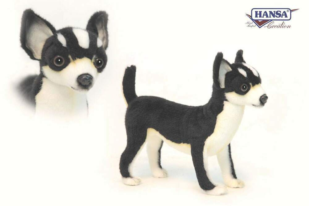 Chihuahua Black 9 13 16in Stuffed Animal Toy Hansa Toy 6367 Novelty