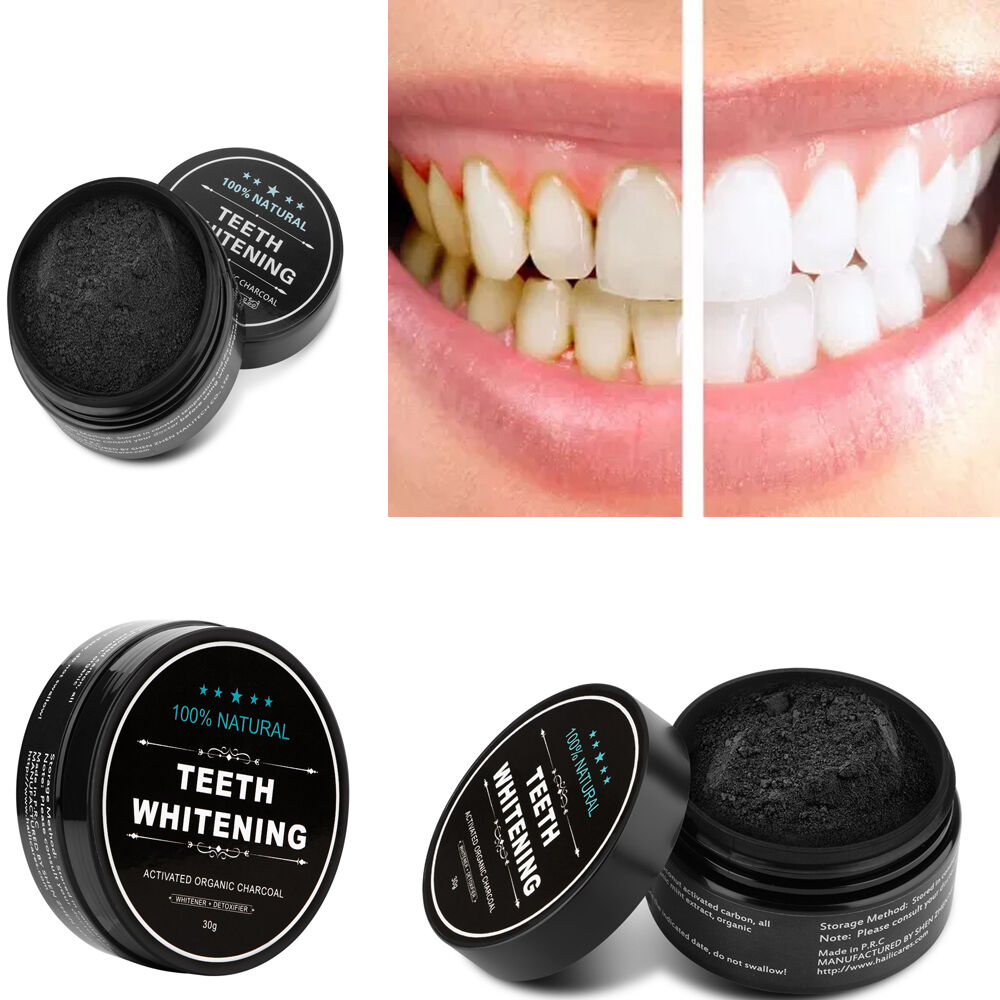 activated 100 organic charcoal teeth whitening powder toothpaste natural carbon 613869488218 ebay. Black Bedroom Furniture Sets. Home Design Ideas