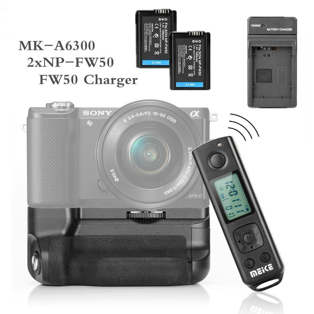 Meike Mk A6300 Battery Grip For Sony A6300 2 Np Fw50 Battery Usb Charger Ebay