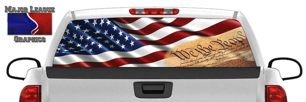 American Flag We The People Back Rear Window Graphic