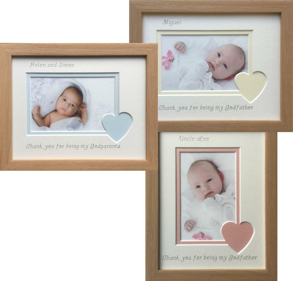 Thank You Godparents Godmother Godfather Photo Frame 9 x 7 Beech | eBay