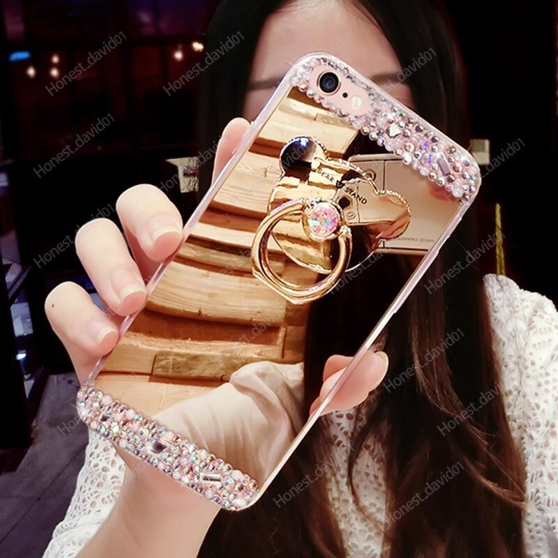 Case Design clear phone case diy : ... Diamond Cyrstal 360u00b0 Rotated Ring Holder Mirror Case Cover : eBay