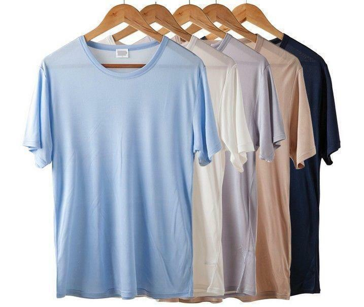 Short Sleeve Silk Shirts For Men