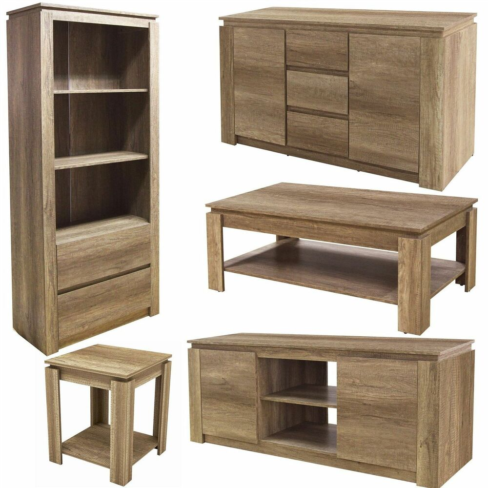 Canyon Oak Living Room Range Furniture Sideboard Lamp Or Coffee Table  Bookcase