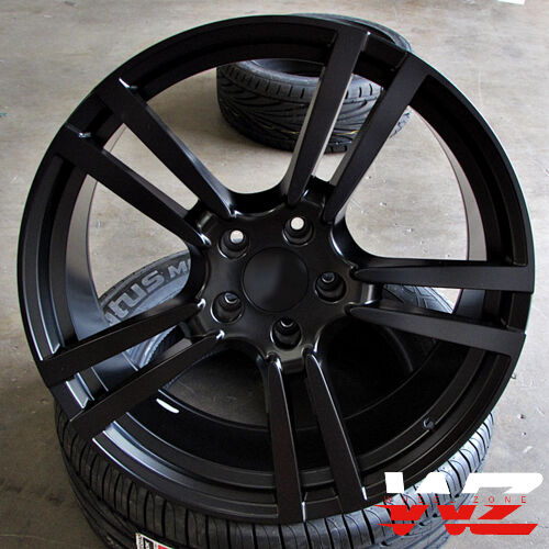 "Bmw Rims 22 Inch >> 20"" Split 5 Satin Black Wheels Rims Fits VW Touareg Audi Q7 Porsche Cayenne 