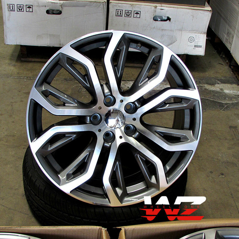 "Bmw X5 Wheels: 22"" 375 Style Staggered Wheels Fits BMW X5 X6 X5M X6M"