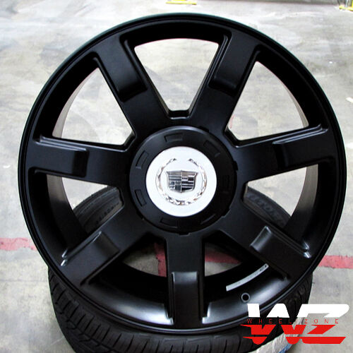 "Cadillac Escalade Platinum Price: 22"" CA80 Style Wheels Satin Black Rims Fits Cadillac"