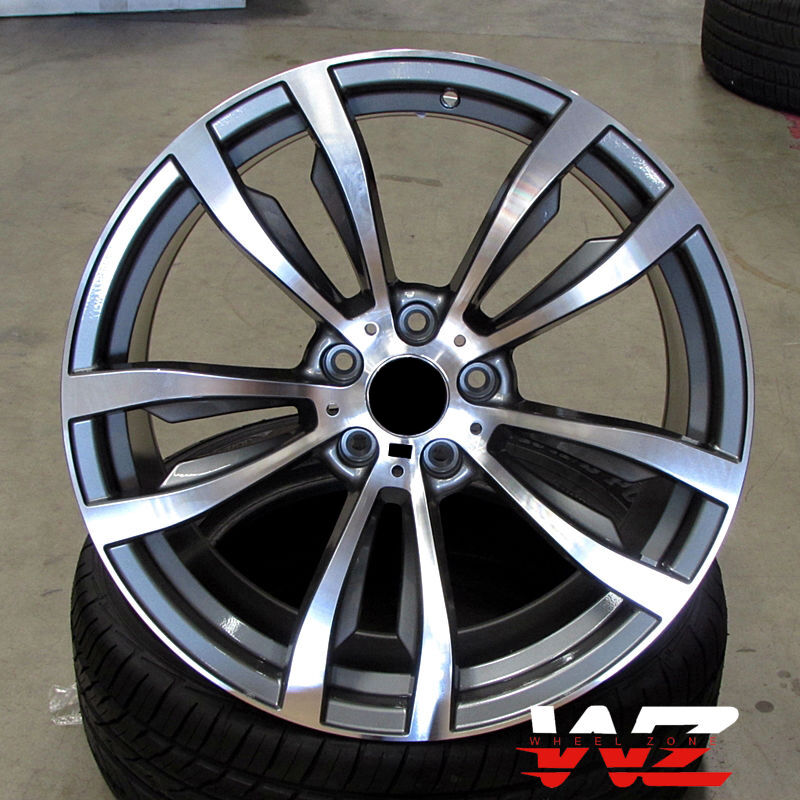 "Bmw X5 Wheels: 20"" Rims 469 Style Fits BMW X5 X6 X5m X6M XDrive Gunmetal"