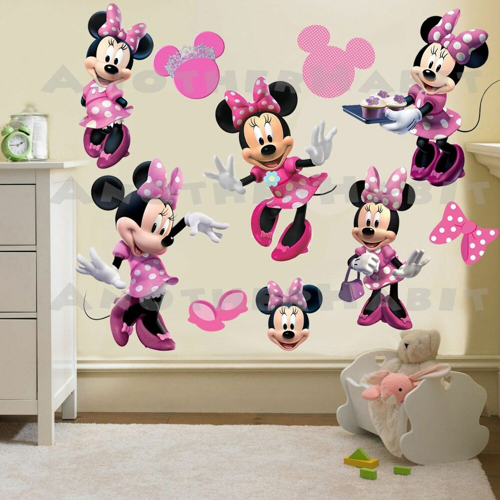 minnie mouse clubhouse room decor wall decal removable. Black Bedroom Furniture Sets. Home Design Ideas
