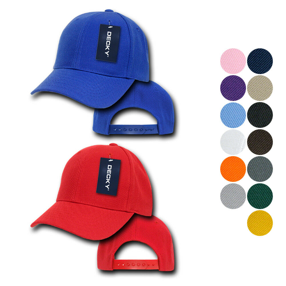 Details about 1 Dozen Decky Pro Style Kids Youth Baseball Acrylic Snapback  Blank Hats Caps 4fa46d005a5