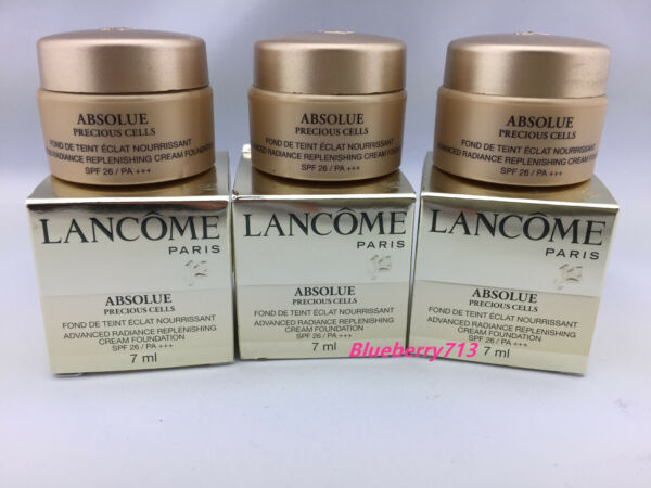 New in Box!Lancome Absolue Precious Cells Replenishing Cream Foundation 7ml each