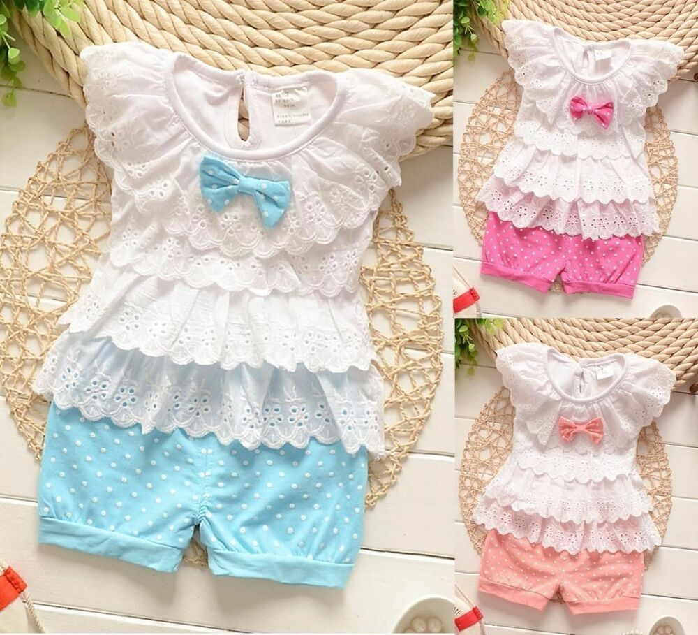 Baby clothes infant baby girls clothing 2 piece summer