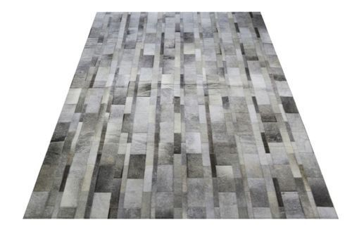 new large cowhide rug patchwork cowskin cow hide leather carpet gray