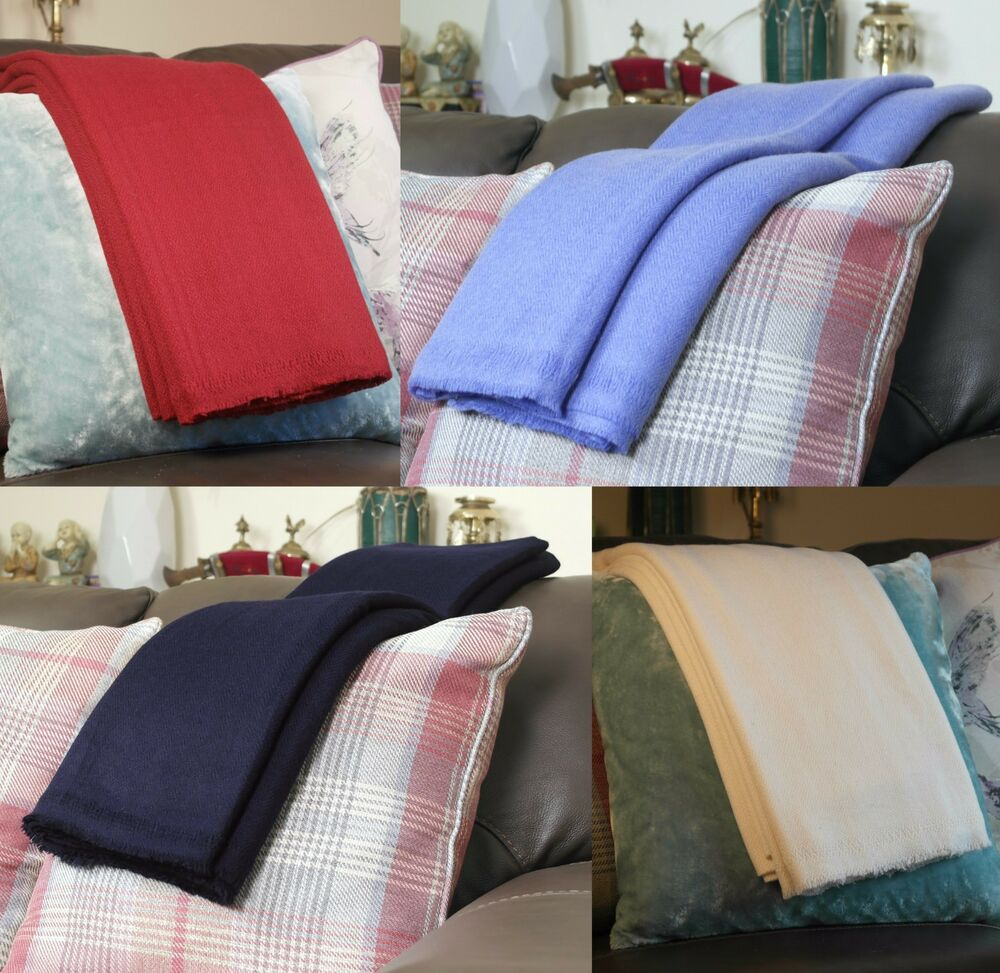 Quality Cashmere Blankets Throws Handwoven In Nepal Sofa