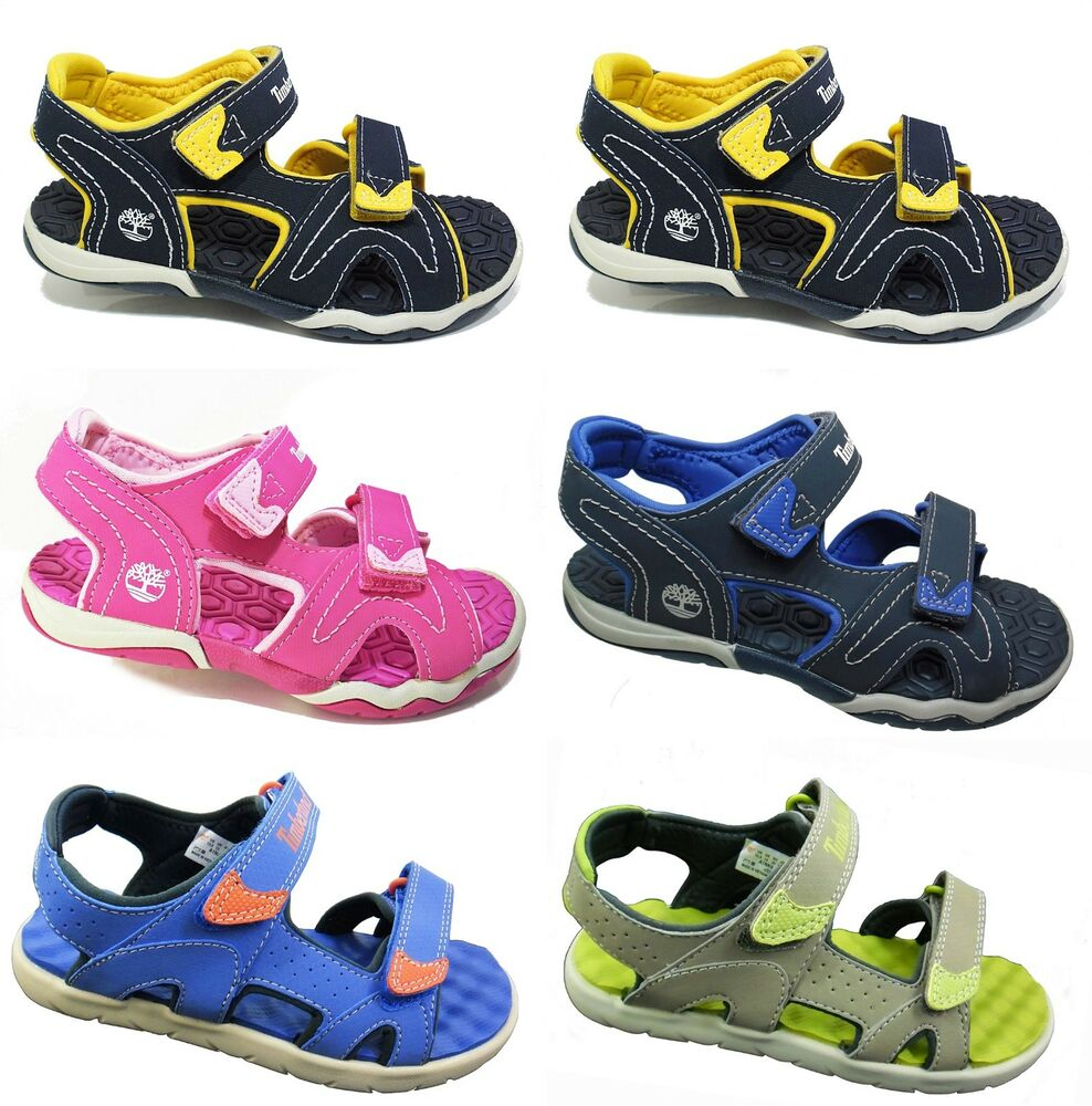 New TIMBERLAND Kids Sandals 2-Strap Summer Shoes Boys ...