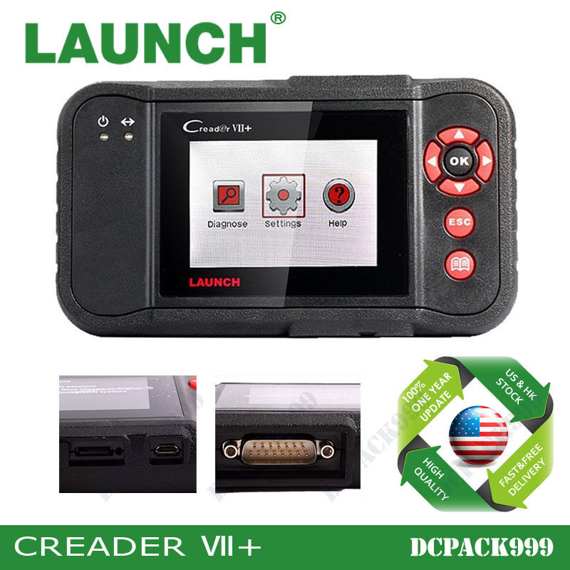 launch creader vii plus automotive code reader obd2. Black Bedroom Furniture Sets. Home Design Ideas