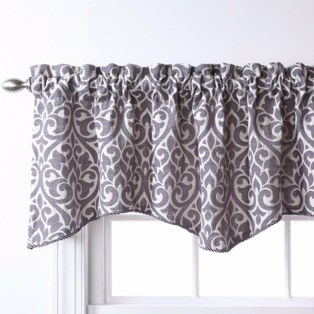 "Bryce Chenille Scalloped Valance With Cording (55"" X 17"
