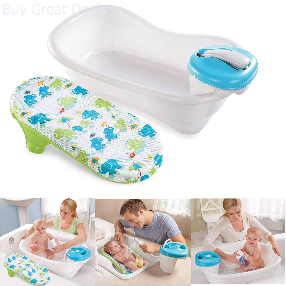 new convenient newborn to toddler bath and shower tub summer infant sling ebay. Black Bedroom Furniture Sets. Home Design Ideas