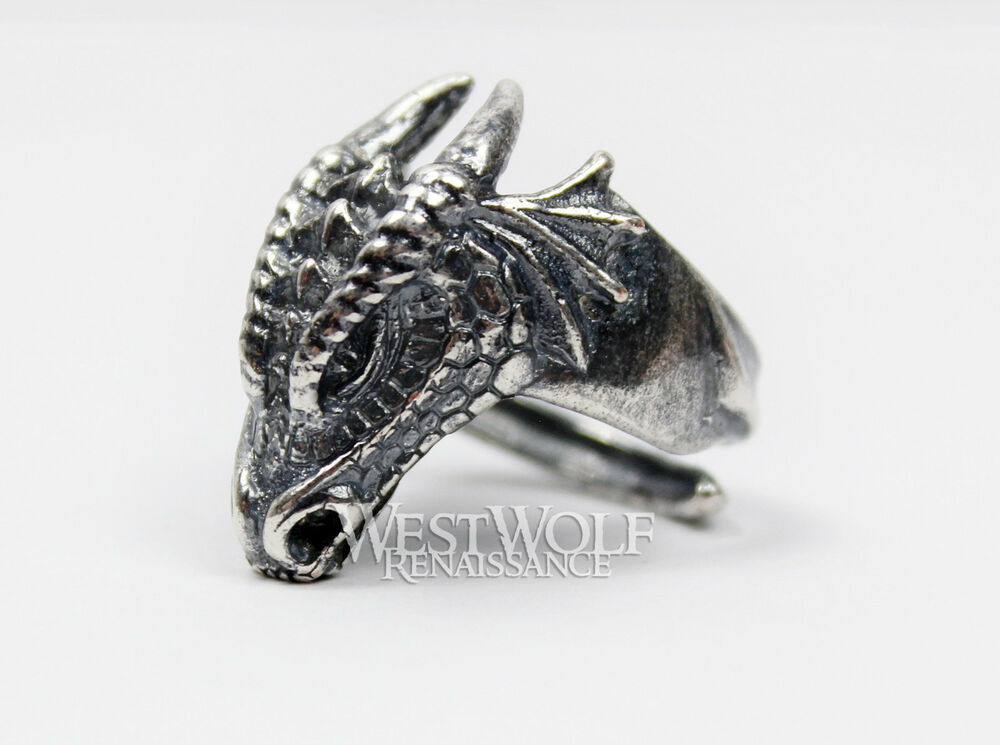 Dragon Head Ring 925 Sterling Silver Size 7 8 9 10 11