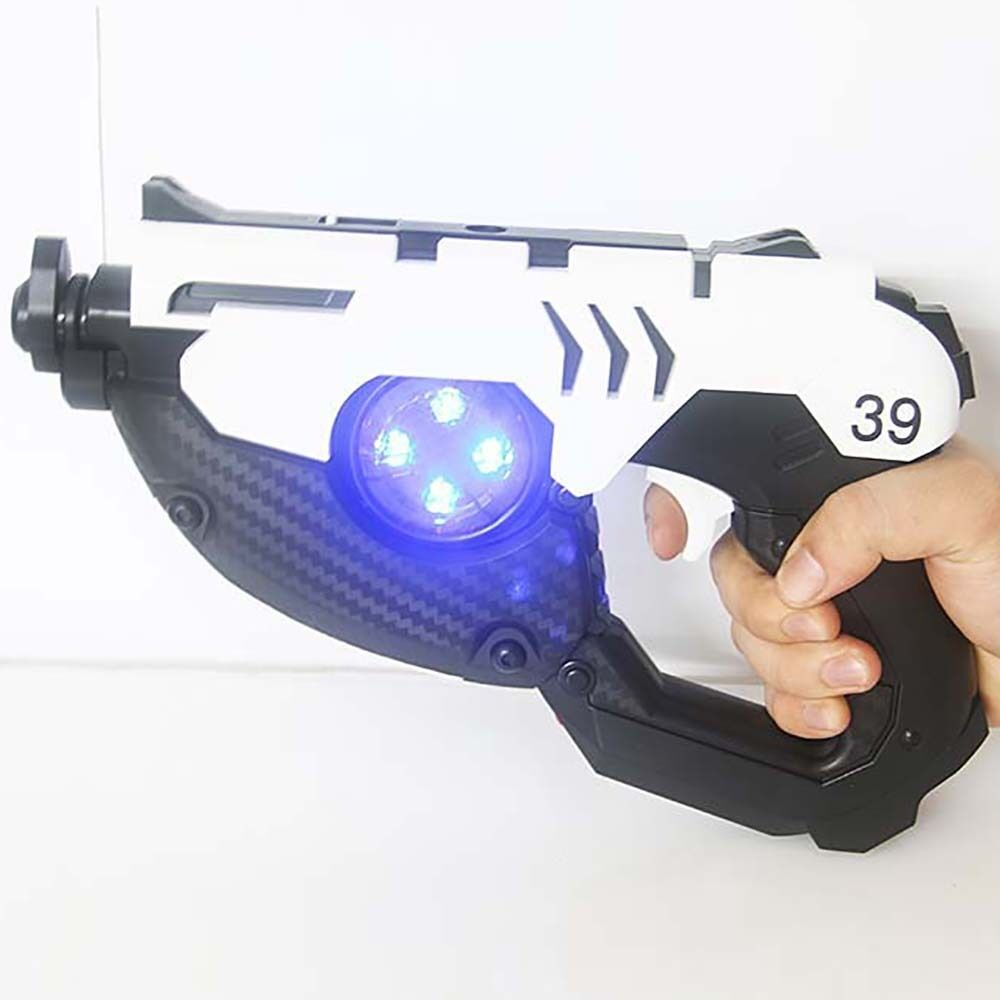 Overwatch Ow Tracer Double Guns Cosplay Props Weapons Abs Toy