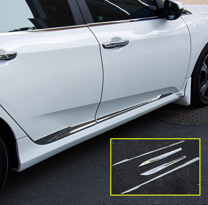 Body Door Side Molding Chrome Trim Sill Cover Guard Fitfor