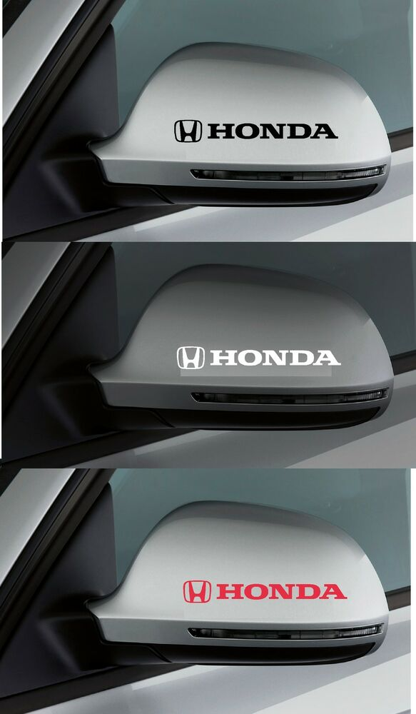 For honda 2 x wing mirror car decal sticker adhesive for Sticker miroir adhesif