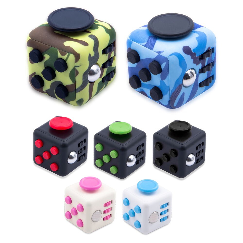 Stress Relief Toys : Fidget toy stress relief focus cube for adults children