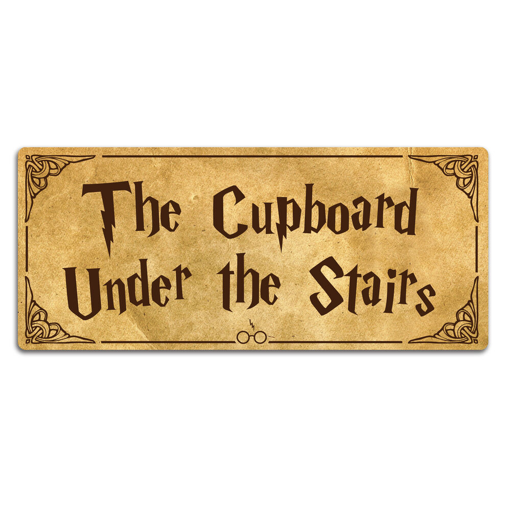 Quote Plaques: Cupboard Under The Stairs