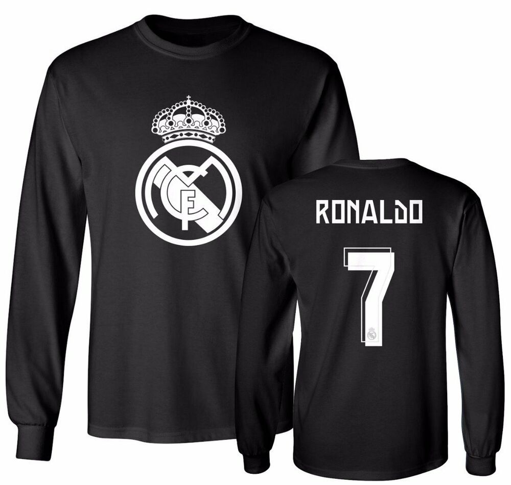 7adc50dce Details about Real Madrid Shirt Cristiano Ronaldo  7 Soccer Jersey Shirt  Long Sleeve T-Shirt