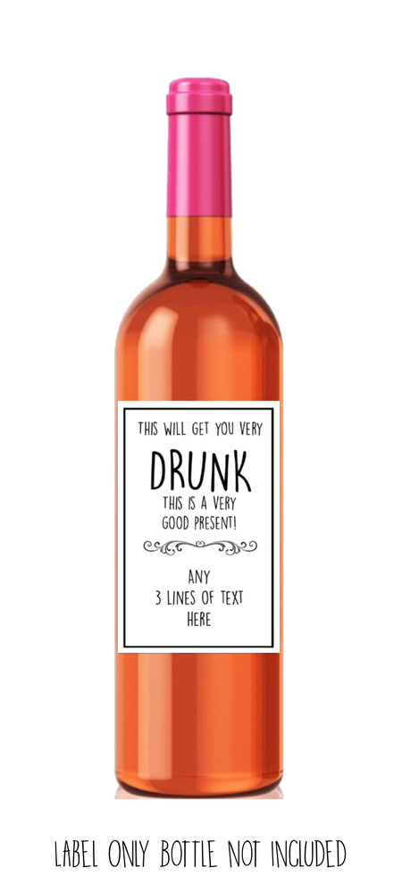 Funny Cute Rude Sarcastic Wine Label Birthday Secret