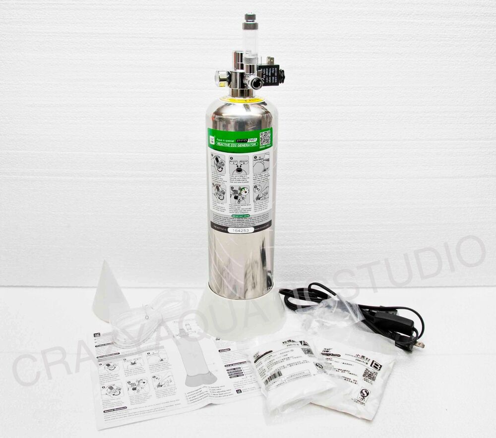 Aquatic DIY Co2 Generator Stainless Steel Bottle Solenoid Regulator canister | eBay