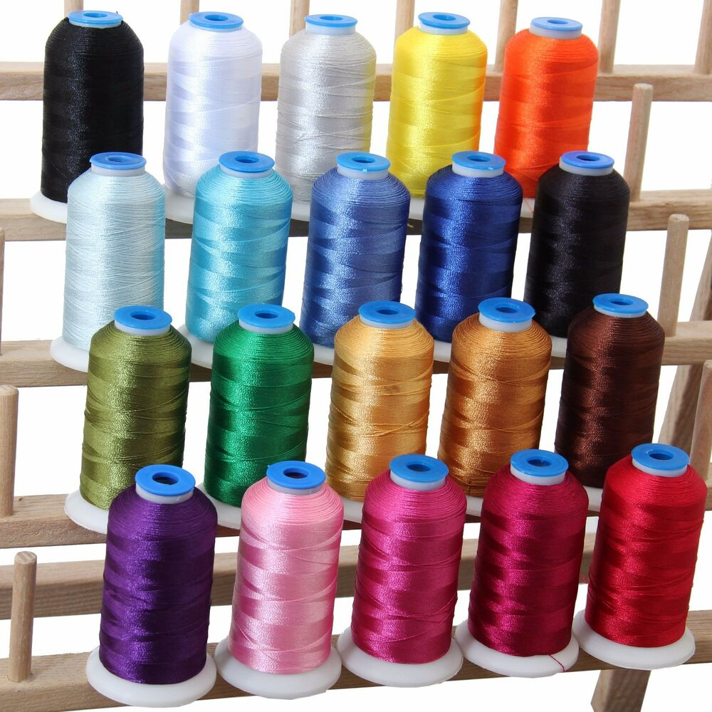 Polyester machine embroidery thread set essential